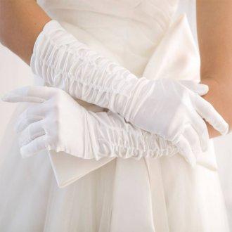 Атласные свадебные перчатки
