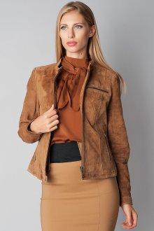 Коричневая модная замшевая куртка