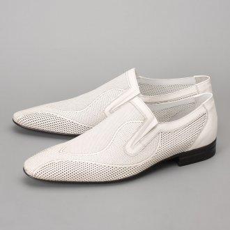 Мужские летние белые туфли