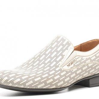 Мужские стильные летние белые туфли с черной подошвой
