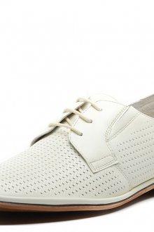 Мужские модные белые туфли с коричневой подошвой