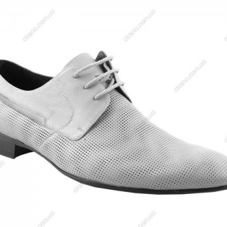Мужские модные белые туфли с дырочками