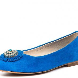 Замшевые синие балетки