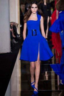 Синие босоножки с синим платьем