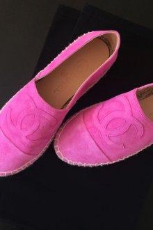 Розовые балетки-эспадрильи