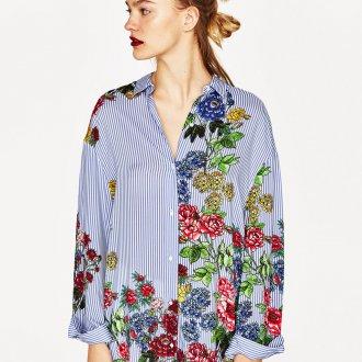 Блузка с принтом 2018