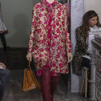 Пальто с узором 2018