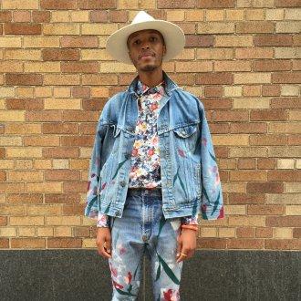 Мужские джинсы со цветочным принтом 2018