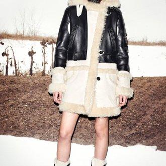Дубленка модная до колен 2018