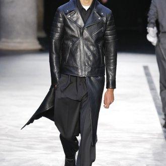 Асимметричная мужская кожаная куртка