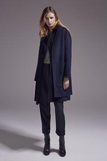 Модное синее пальто 2019