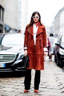 Модное замшевое пальто 2019