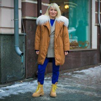 Женская куртка с искусственным мехом