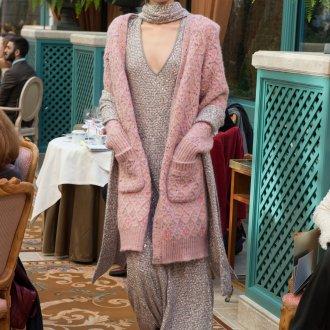 Кардиган розовый с капюшоном