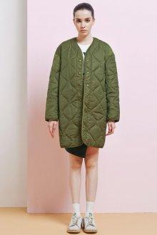 Стеганое пальто на осень