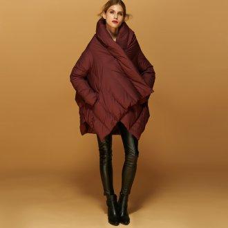 Пальто кокон стеганое