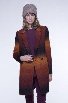 Пальто из альпаки разноцветное
