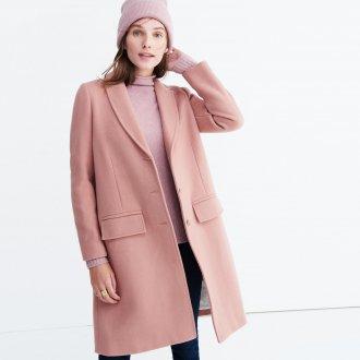 Розовое пальто кашемировое
