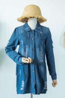 Летнее джинсовое пальто