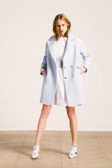 Пальто оверсайз голубое