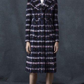 Драповое пальто с английским воротником