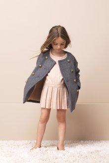 Серое пальто для девочки