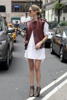 Кожаный жилет в стиле минимализм