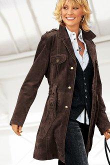 Замшевое кожаное пальто