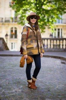 Этническое короткое пальто