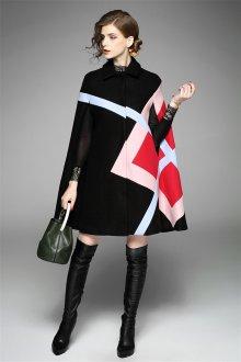 Короткое пальто пончо