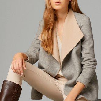 Короткое пальто с шалевым воротником