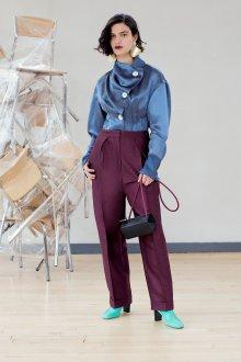 Фиолетовые брюки с высокой талией