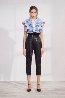 Кожаные брюки с высокой талией