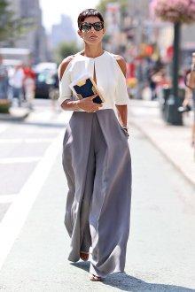 Летние брюки с высокой талией