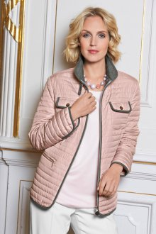Стеганая розовая куртка