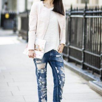 Белая короткая куртка