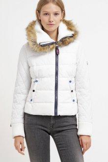 Белая куртка с мехом