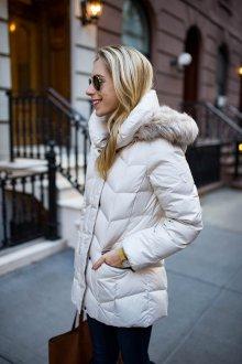 Белая удлиненная куртка