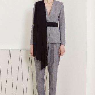 Асимметричный серый пиджак