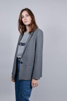 Серый пиджак однобортный