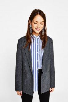 Серый пиджак оверсайз