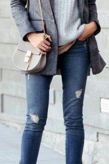 Серый пиджак шерстяной