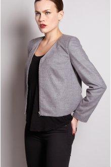 Трикотажный серый пиджак