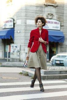 Красный пиджак классический