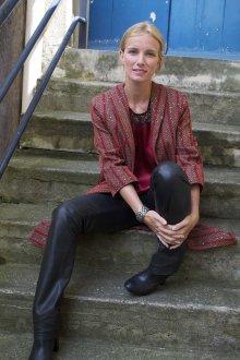 Длинный красный пиджак