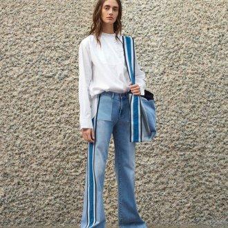 Женские широкие джинсы клеш