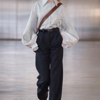 Женские широкие брюки с высокой талией