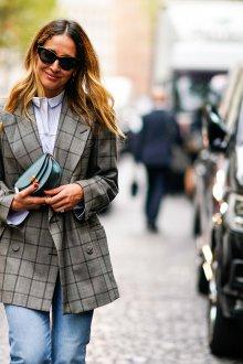 Клетчатый удлиненный пиджак