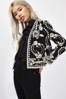 Короткий черно-белый пиджак