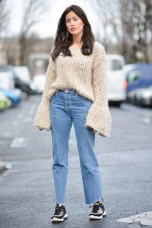Прямые джинсы светлые